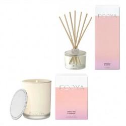 Ecoya Sweet Pea & Jasmine Madison Candle and Diffuser Set