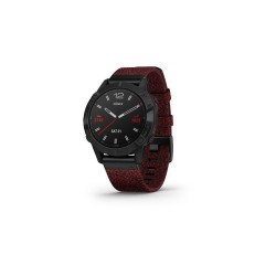 Garmin Fēnix 6 Sapphire 47mm Black DLC with Heathered Red Nylon Band