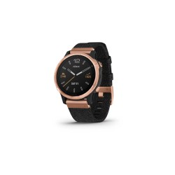 Garmin Fēnix 6S Sapphire 42mm - Rose Gold-tone with Heathered Black Nylon Band