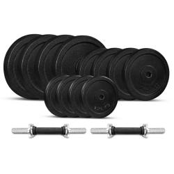 Lifespan Fitness 40kg Cast Iron Standard Dumbbell Set