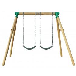 Lifespan Kids Amber 3 Double Belt Timber Swing Set