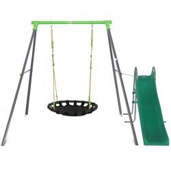 Lifespan Kids Cellar Nest Swing Set with Slippery Slide