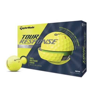 TaylorMade Tour Response Golf Balls - Yellow