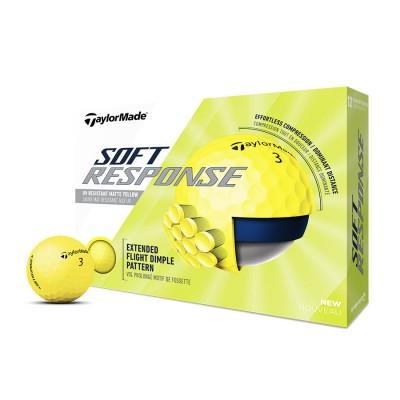 TaylorMade Soft Response Golf Balls - Yellow