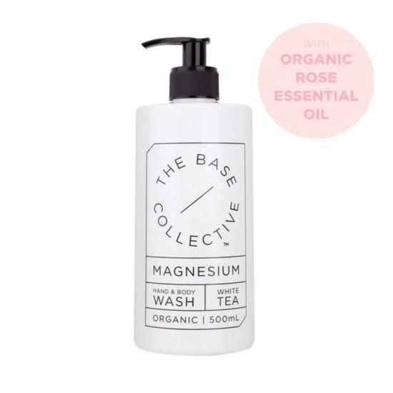 The Base Collective Rose, Magnesium & Aloe Vera Body Wash 500ml