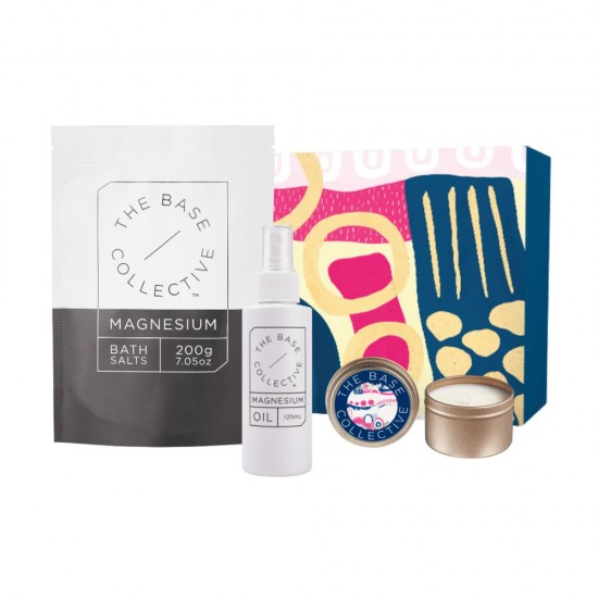 The Base Collective The Ultimate Calming Bundle with Lily & Pear Candle